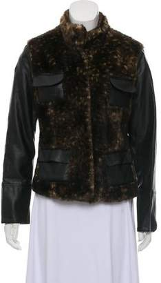 Adrienne Landau Faux Leather Jacket