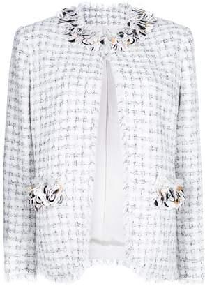MSGM embellished tweed jacket