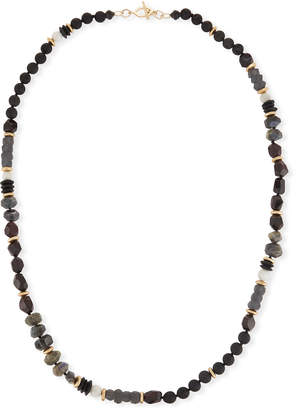 Neiman Marcus Akola Beaded Moonstone Necklace