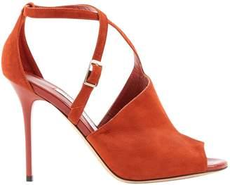 Jimmy Choo Orange Suede Heels