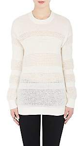 Derek Lam 10 Crosby WOMEN'S MIXED-KNIT COTTON-BLEND SWEATER-SOFT WHITE SIZE S