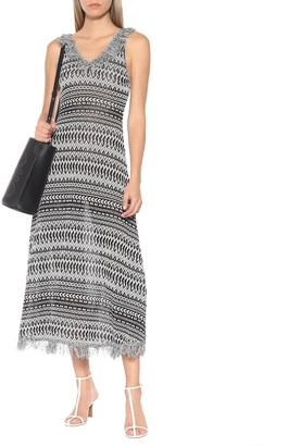 Loewe Striped cotton-blend knit dress