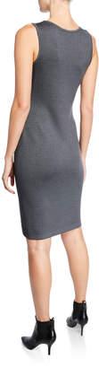 St. John Santana Wool Sleeveless Sheath Dress