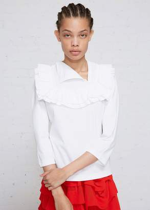 Comme des Garcons Ruffle Folded Neck Top