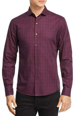 Michael Kors Grid-Print Slim Fit Shirt