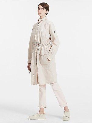 Calvin KleinCalvin Klein Womens Cotton Nylon Long Parka Coat Jacket