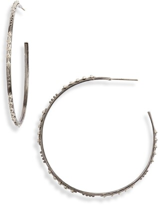 Armenta New World Diamond Hoop Earrings