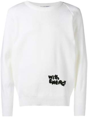Comme des Garcons With Energy ribbed knit jumper