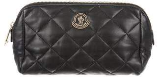 Moncler Quilted Leather Pouch