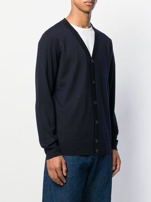 A.P.C. V-neck knitted cardigan