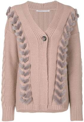 Agnona cable knit detail cardigan