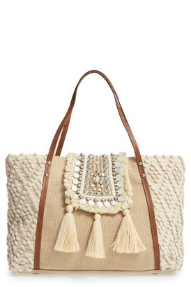 Steve Madden Jali Coin Tote - Beige $115 thestylecure.com