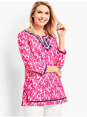 Talbots Stitched-Embroidered Tunic