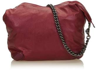 Gucci Vintage Leather Galaxy Chain Hobo