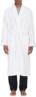 Derek Rose Men's Triton Cotton French Terry Velour Robe - White