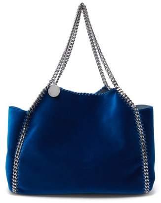 Stella McCartney Falabella Small Reversible Velvet Tote - Womens - Dark Blue