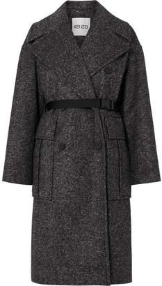 Kenzo Belted Tweed Coat - Black