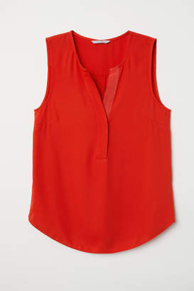 H&M Sleeveless Blouse - Red