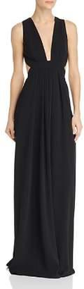 Jill Stuart V-Neck Cutout Gown