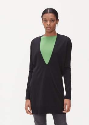 Maison Margiela Deep V Neck Sweater Dress