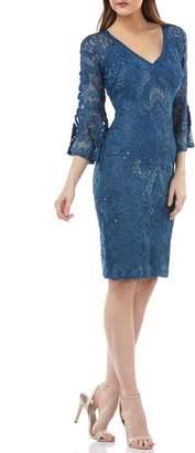c5e8846713d JS Collections Bell Sleeve Bead   Soutache Cocktail Dress