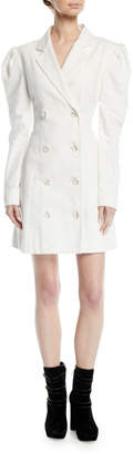 Maggie Marilyn Leap Of Faith Puff-Sleeve Cotton Blazer Dress