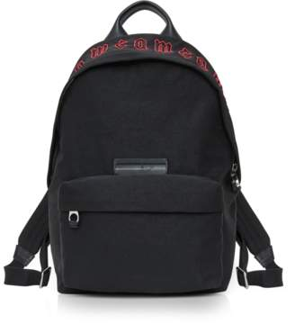 McQ Red Gothic Repeat Black Cotton Classic Backpack