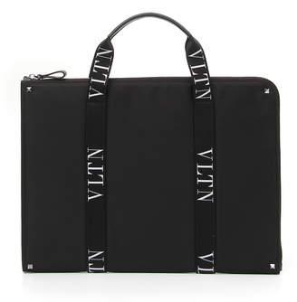 Valentino Men's VLTN Logo-Strap Document Case