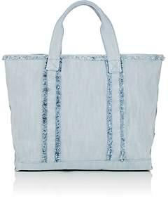 Barneys New York Women's Fringed Denim Tote Bag - Denim