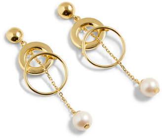 J.Crew Demi Fine 14K Gold Plate Pearl Drop Earrings