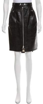 Junya Watanabe Vegan Leather Knee-Length Skirt