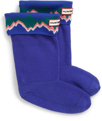 Hunter Storm Stripe Cuffed Boot Socks