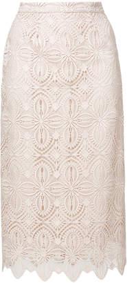 Ermanno Scervino lace-embroidered midi skirt