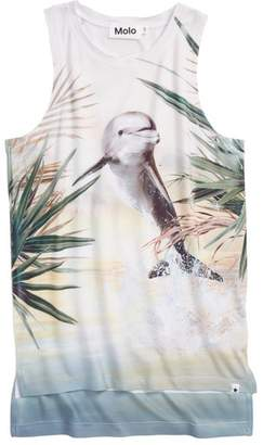 Molo Ro Bird Cover-Up T-shirt Dress