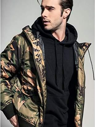 GUESS Men's Long Sleeve Alpine Camo Hood Bomber Jacket