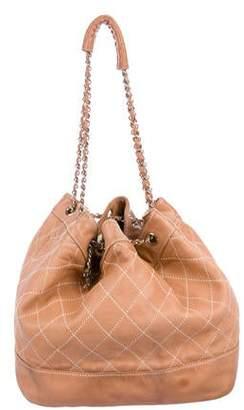 c4a87ee96892 Chanel Surpique Drawstring Bucket Bag