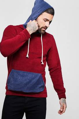 boohoo Colour Block Fleece Over The Head Hoodie
