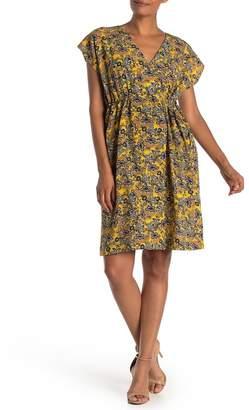 I. MADELINE Paisley Faux Wrap Knee Length Dress