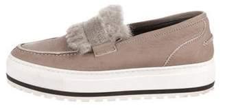 Brunello Cucinelli Monili-Accented Slip-On Sneakers