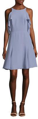 Halston H Flounce Sleeveless Dress