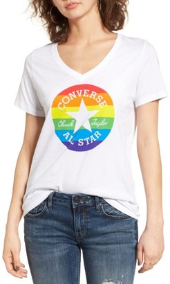 Women's Converse Pride Rainbow Chuck Patch Tee $25 thestylecure.com