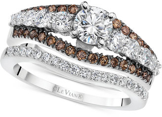 Le Vian® Engagement Ring (1-1/2 ct. t.w.) in 14k White Gold $13,745 thestylecure.com