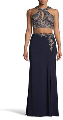 Xscape Evenings Embroidered 2-Piece Evening Dress