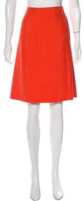 Loro Piana Silk Knee-Length Skirt w/ Tags