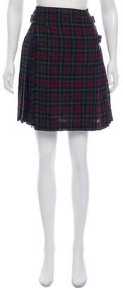 Prada Tartan Wool Skirt w/ Tags