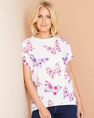 Fashion World Butterfly Print Oversized Jersey T Shirt