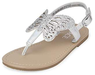 Children's Place The Girls' TG Btrfly Candy Flat Sandal
