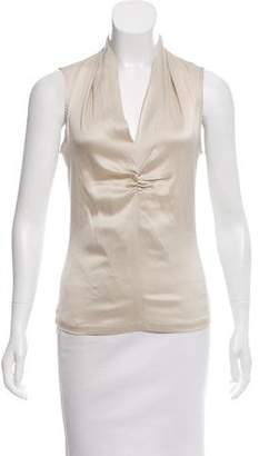 Fabiana Filippi Silk-Paneled Sleeveless Top