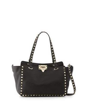 Valentino Rockstud Grain Small Tote Bag, Black $2,095 thestylecure.com