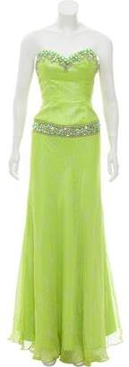 Terani Couture Strapless Embellished Gown w/ Tags